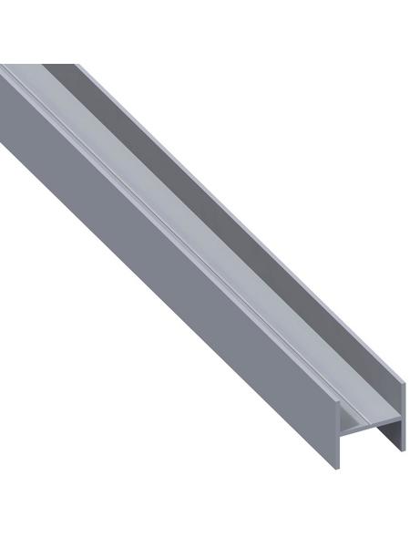 alfer® aluminium Quadrat-H-Profil, LxBxH: 1000 x 7,5 x 7,5 mm, Aluminium
