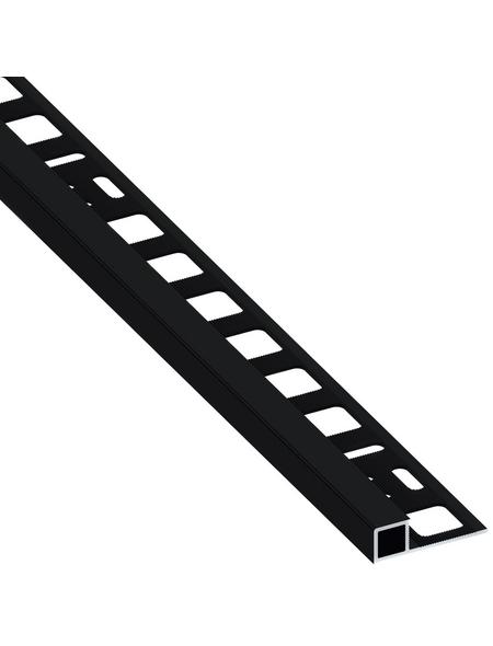 alfer® aluminium Quadrat-Profil, BxHxL: 1.95 x 0.8 x 250cm, Aluminium