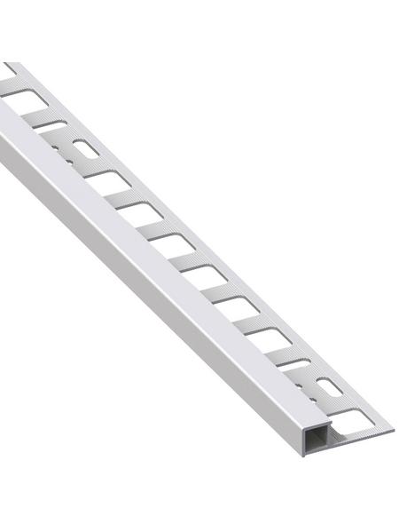 alfer® aluminium Quadrat-Profil, BxHxL: 1.95 x 1 x 250cm, Aluminium