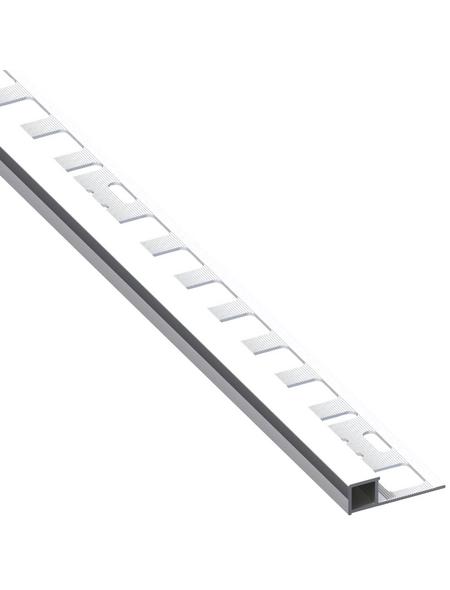 alfer® aluminium Quadrat-Profil, BxHxL: 2 x 1.25 x 250cm, Aluminium