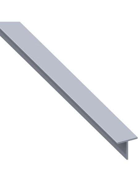 alfer® aluminium Quadrat-T-Profil combitech® Alu silber 1000 x 19,5 x 19,5 x 1,5 mm