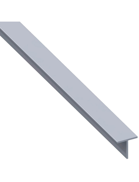 alfer® aluminium Quadrat-T-Profil combitech® Alu silber 2500 x 19,5 x 19,5 x 1,5 mm