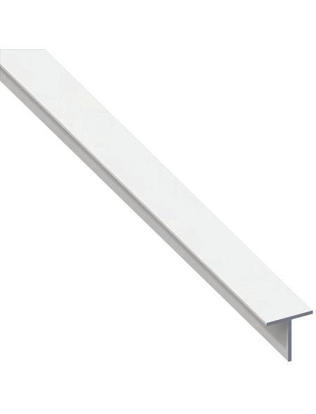 alfer® aluminium Quadrat-T-Profil combitech® PVC weiß 1000 x 7,5 x 7,5 x 1 mm