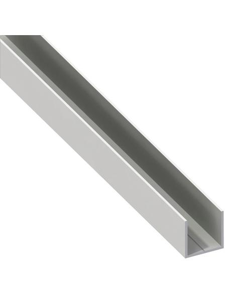 alfer® aluminium Quadrat-U-Profil, Combitech®, LxBxH: 2500 x 7,5 x 7,5 mm, Polyvinylchlorid (PVC)