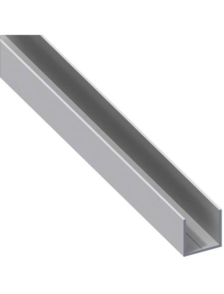 alfer® aluminium Quadrat-U-Profil, LxBxH: 1000 x 23,5 x 23,5 mm, Aluminium