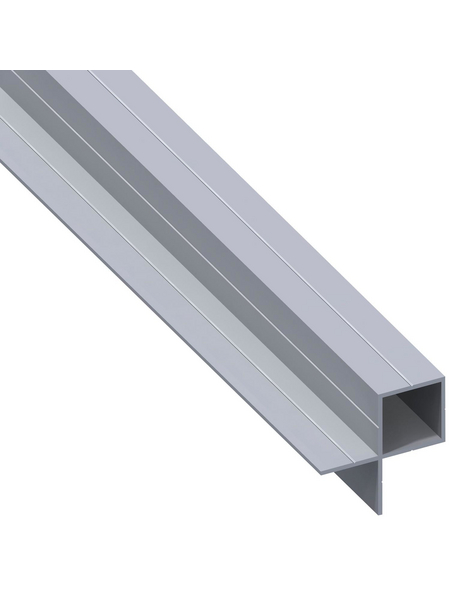 alfer® aluminium Quadratrohr, BxHxL: 43,5 x 23,5 x 1000 mm, silberfarben