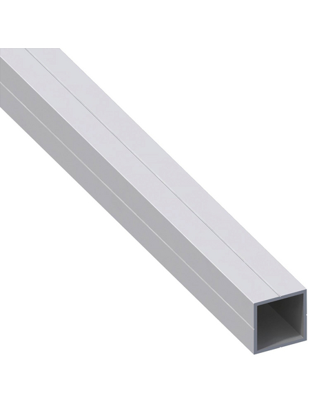 alfer® aluminium Quadratrohr, Combitech®, 1000 x 23,5 x 23,5 x 1,5 mm, Silber, Aluminium