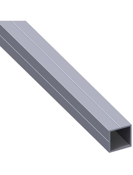 alfer® aluminium Quadratrohr, Combitech®, 2500 x 11,5 x 11,5 x 1,5 mm, Silber, Aluminium