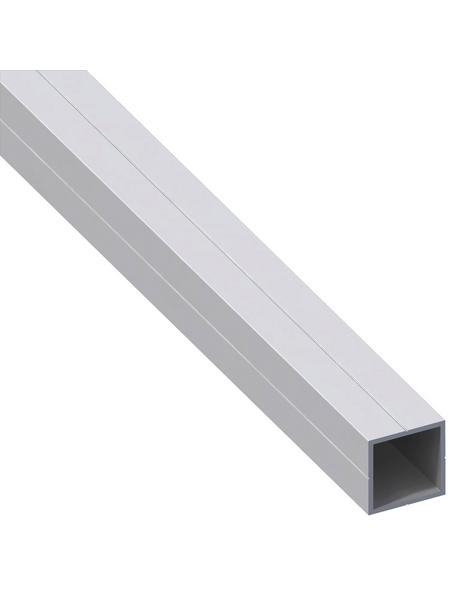 alfer® aluminium Quadratrohr, Combitech®, 300 x 23,5 x 23,5 x 1,5 mm, Silber, Aluminium