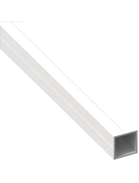 alfer® aluminium Quadratrohr, Combitech®, 300 x 235 x 235 x 1,5 mm, Weiß, PVC