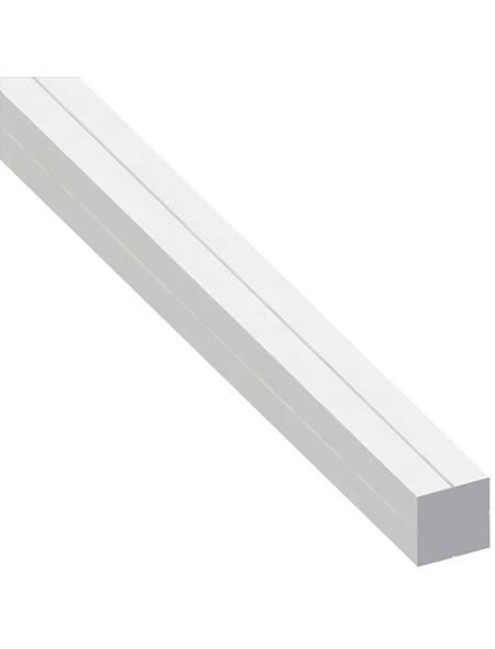 alfer® aluminium Quadratrohr »Combitech®«, BxHxL: 15,5 x 15,5 x 1000 mm, weiß