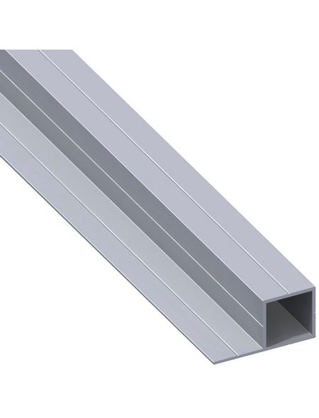 alfer® aluminium Quadratrohr »Combitech®«, BxHxL: 37,5 x 19,5 x 1000 mm, silberfarben
