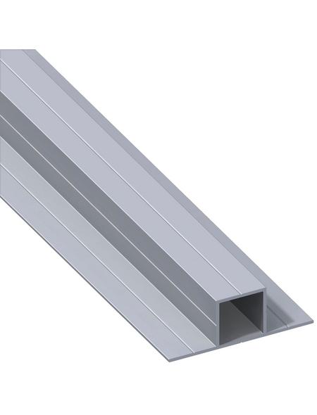 alfer® aluminium Quadratrohr »Combitech®«, BxHxL: 67,5 x 23,5 x 1000 mm, silberfarben