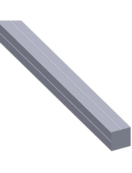 alfer® aluminium Quadratrohr »Combitech®«, BxHxL: 7,5 x 7,5 x 1000 mm, silberfarben