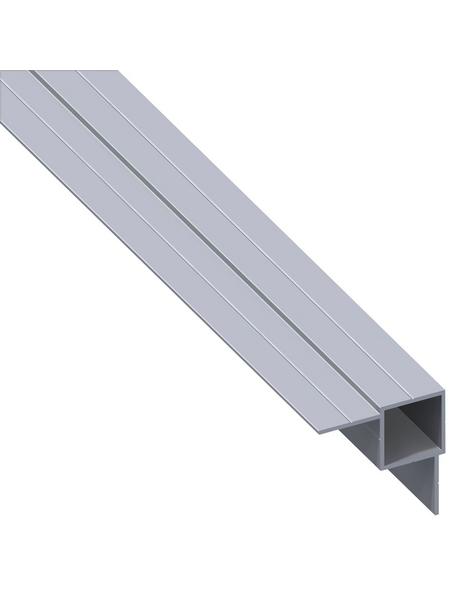alfer® aluminium Quadratrohr combitech®Alu silber 1000 x 14 x 7,5 x 1mm