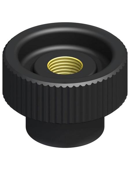 alfer® aluminium Rändelmutter, Combitech®, M5, Schwarz, PVC