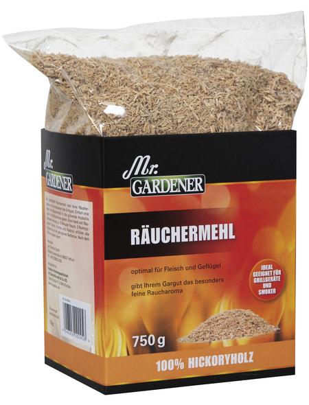 MR. GARDENER Räuchermehl, Hickory, gemahlen