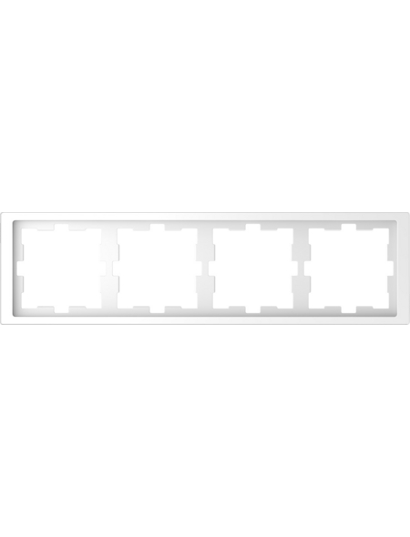 merten Rahmen, D-Life, IP20, 4-fach, lotosweiß, Thermoplast