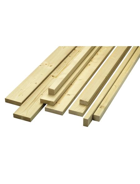 KLENK HOLZ Rahmenholz, Fichte / Tanne, BxH: 3,4 x 3,4 cm, glatt