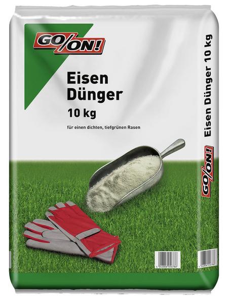 GO/ON! Rasendünger, 10 kg, für 500 m², schützt vor Chlorose