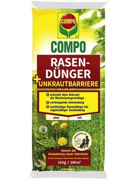 COMPO Rasendünger, 10 kg, schützt vor Unkraut