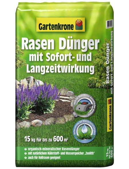 GARTENKRONE Rasendünger, 15 kg, für 600 m², schützt vor Nährstoffmangel