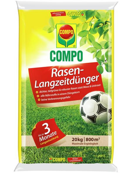 COMPO Rasendünger, 20 kg, für 800 m², schützt vor Mangelerscheinungen