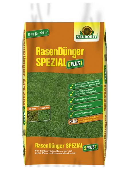 NEUDORFF Rasendünger »5PLUS1«, 10 kg, für 200 m²