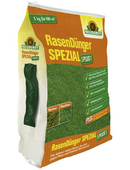 NEUDORFF Rasendünger »5PLUS1«, 5 kg, für 100 m²