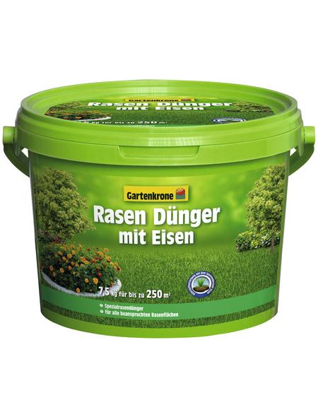 GARTENKRONE Rasendünger, 7,5 kg, für 250 m², schützt vor Nährstoffmangel
