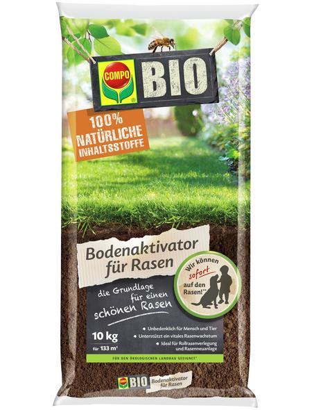 COMPO Rasendünger »BIO«, 10 kg, für 133 m², schützt vor Nährstoffmangel