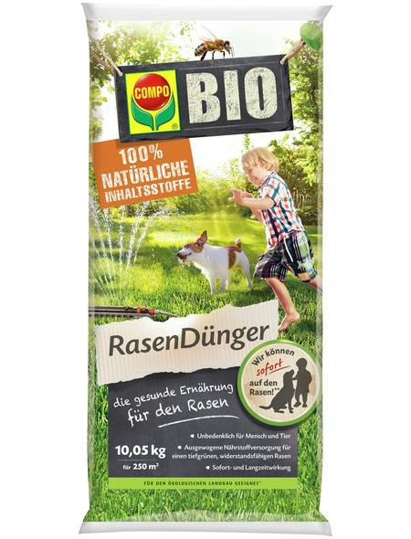 COMPO Rasendünger »BIO«, 10,05 kg, für 250 m², schützt vor Mangelerscheinungen