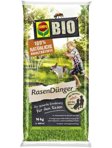 COMPO Rasendünger »Bio«, , für 400 m², schützt vor Mangelerscheinungen