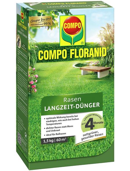 COMPO Rasendünger »FLORANID«, 1,5 kg, für 60 m², schützt vor Mangelerscheinungen
