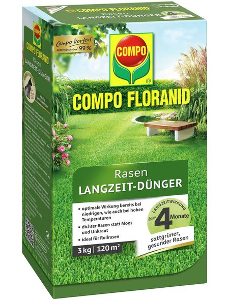 COMPO Rasendünger »FLORANID«, 3 kg, für 120 m², schützt vor Mangelerscheinungen