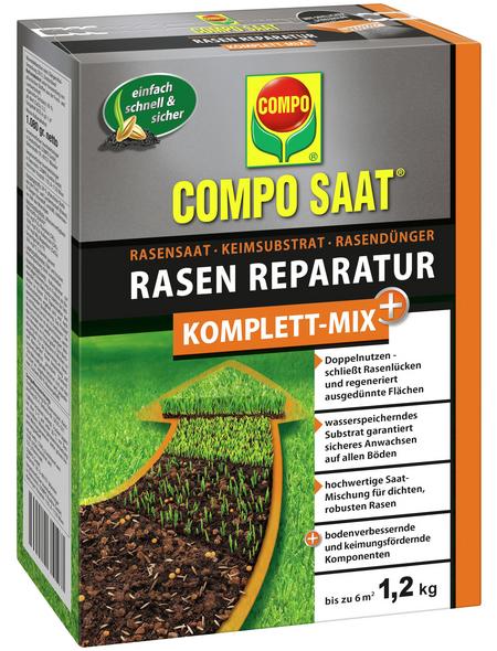 COMPO Rasendünger »Komplett Mix+«, 1,2 kg für bis zu 6 m², schützt vor Rasenlücken