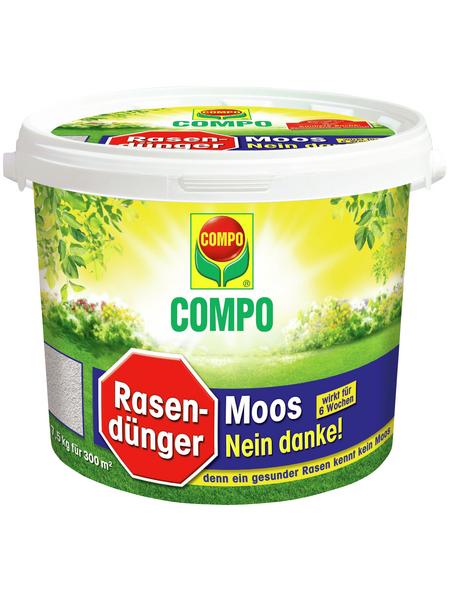 COMPO Rasendünger & Moosvernichter, 7,5 kg, für 300 m², schützt vor Moos