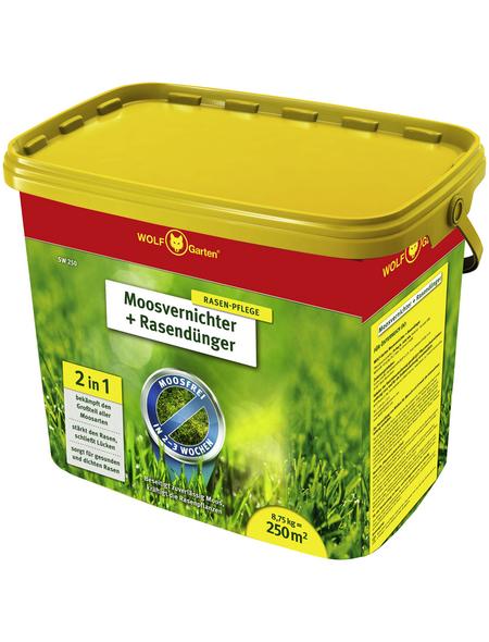 WOLF GARTEN Rasendünger & Moosvernichter »SW 250«, 8,75 kg, für 250 m², schützt vor Moos