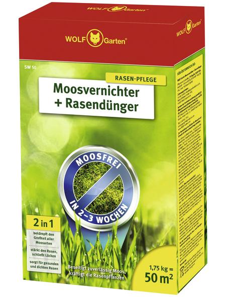 WOLF GARTEN Rasendünger & Moosvernichter »SW 50«, 1,75 kg, für 50 m², schützt vor Moos