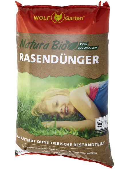 WOLF GARTEN Rasendünger »Natura Bio NR 18,9«, 10,8 kg, für 160 m², schützt vor Verbrennung der Rasengräser