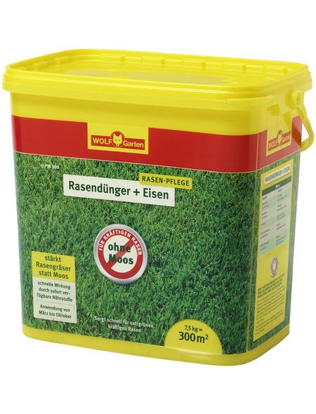 WOLF GARTEN Rasendünger »Plus Eisen L-PM 300«, 7,5 kg, für 300 m², schützt vor Moos