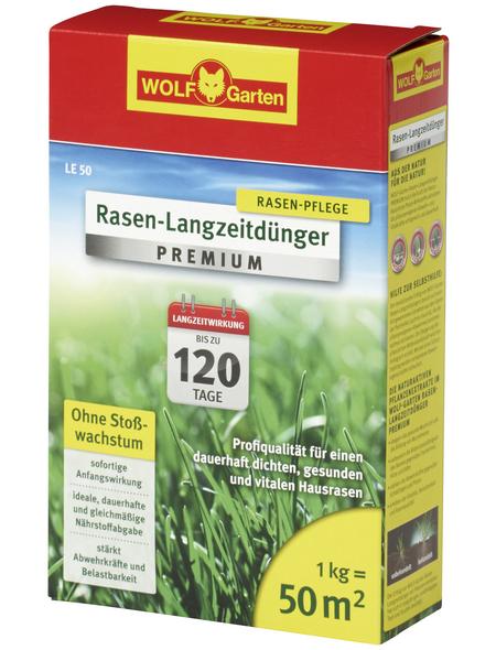 """WOLF GARTEN Rasendünger »""""PREMIUM"""" LE 50«, 1 kg, für 50 m²"""