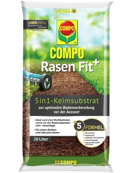 COMPO Rasendünger »Rasen Fit+ 5in1«, 20 l, für 10 m², schützt vor Rasenlücken