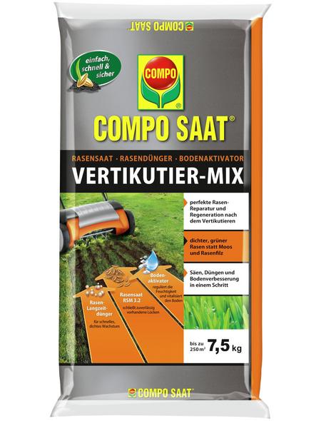 COMPO Rasendünger »SAAT Vertikutier-Mix«, 7,5 kg, für 250 m², schützt vor Rasenlücken