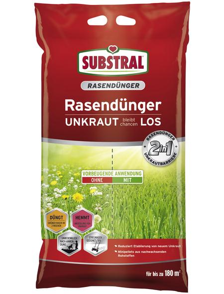 SUBSTRAL® Rasendünger & Unkrautvernichter, 9,1 kg, für 180 m²