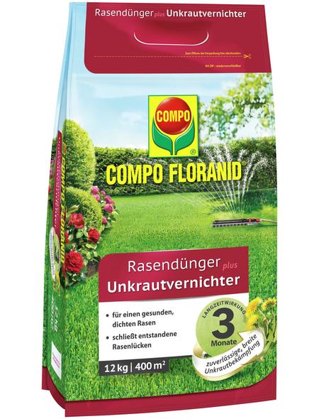 COMPO Rasendünger & Unkrautvernichter »FLORANID«, 12 kg, für 400 m², schützt vor Unkraut