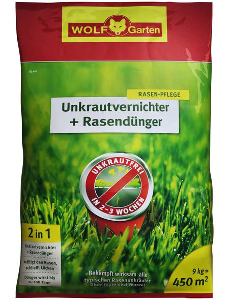 WOLF GARTEN Rasendünger & Unkrautvernichter »Plus SQ 450«, 9 kg, für 450 m², schützt vor Unkraut