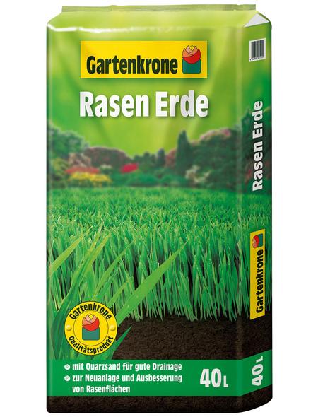 GARTENKRONE Rasenerde, 40 l, geeignet für: Rasenneuanlage und Rasenausbesserung