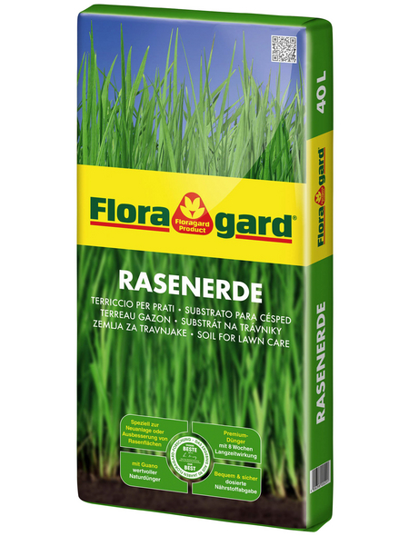FLORAGARD Rasenerde, für Rasen-Neuanlage