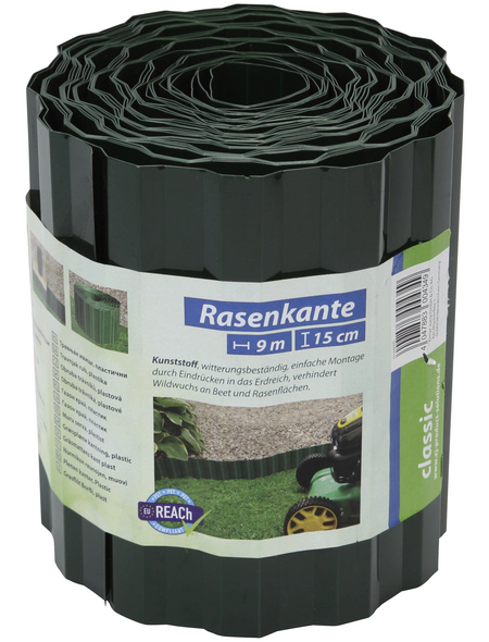 FLORAWORLD Rasenkante, HxL: 15 x 900 cm, Polyethylenterephthalat (PET)